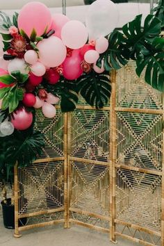 16 Amazing Wedding Photo Booth Backdrops for 2019 Trends - EmmaLovesWeddings - tropical wedding photo booth backdrop ideas - Diy Photo Booth, Wedding Photo Booth, Photo Booth Backdrop, Backdrop Ideas, Baby Shower Photo Booth, Backdrop Wedding, Photo Booth Party, Wedding Photo Backdrops, Luau Photo Booths