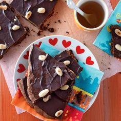 Knapperige chocolade-speculaasbrokken