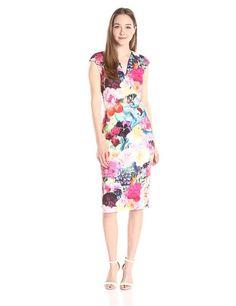 Amazon.com: Ted Baker Women's Odeela Floral Swirl-Print Sheath Dress: Clothing