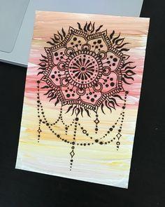 23 отметок «Нравится», 1 комментариев — Vera Demen (@demen_mehndi) в Instagram: «Открыточка с солнечной мандалой, немного света в эти пасмурные дни #henna #mandala #mehendi…»