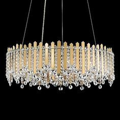 Chatter Pendant Light by Schonbek Lighting - Color: Clear - Finish: Gold Mirror - Diy Chandelier, Chandeliers, Chandelier Centerpiece, Faceted Crystal, Swarovski Crystals, Schonbek Lighting, Old Lamp Shades, Flat Shapes, Large Crystals