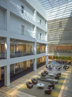 Intel Designs Next Generation Workplace for Recruitment and Retention Office Spaces, Cubicle, Skylight, Workplace, Contemporary, Building, Design, Home Decor, Decoration Home