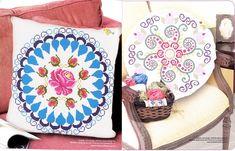 Dinha Ponto Cruz: Almofadas com Mandalas em ponto cruz