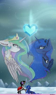 Princess Luna,принцесса Луна,royal,my little pony,Мой маленький пони,фэндомы,mlp art,Princess Celestia,Принцесса Селестия,King Sombra,minor,FeatherShine1,mlp sad