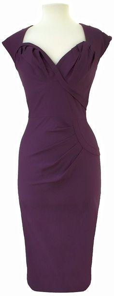Stop Staring! Crush Eggplant Dress