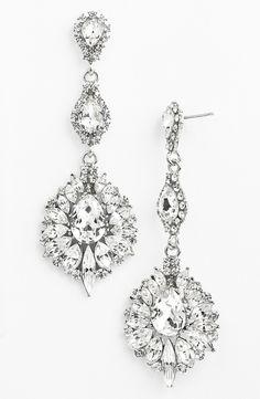 Love this glamorous crystal drop earrings.