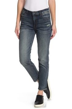 Reese High Waist Distressed Ankle Straight Jeans (Program) by KUT from the Kloth on Goldendoodle Puppy For Sale, Nordstrom Rack, Skinny Jeans, Ankle, High Waist, Pants, Fashion, Trouser Pants, Moda