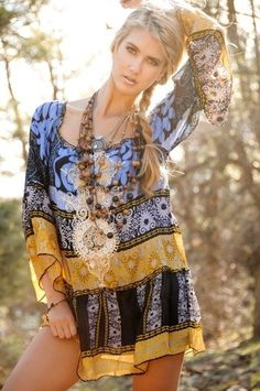 #boho Hippie Boho, Style Hippie Chic, Mode Hippie, Gypsy Style, Boho Gypsy, Bohemian Style, Boho Chic, Hippie Masa, Hippie Styles