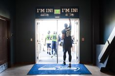 We may need a taller #ImIn sign for the new guy. #SeahawksCamp #TGIBF