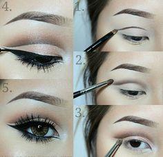 deslize lider-maquiagem-guia-passo-sobrancelha delineador-kajal - Hair and beauty - Cut Crease Hooded Eyes, Cut Crease Eye, Cut Crease Makeup, Hooded Eyelids, How To Cut Crease, Hooded Eye Makeup, Eye Makeup Tips, Smokey Eye Makeup, Makeup Eyeshadow