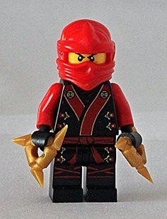 Custom Minifigur Ninja Kai Kimono aus Original Lego Ninjago Bauteilen inkl. Wurfsternen