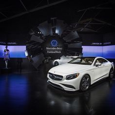 The stage is finally set and we couldn't ask for more attractive models. #MBPhotoPass @CuteCircuit #Mercedes #Benz #SClass #S63 #AMG #Coupe #instacar #carsofinstagram #germancars #luxury #NY #NYC #MBFW
