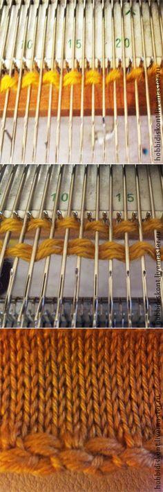 Набор петель 'Болгарский зачин' на вязальной машине - Ярмарка Мастеров - ручная работа, handmade