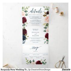 Tri Fold Wedding Invitations, Wedding Invitations Australia, Burgundy Wedding Invitations, Destination Wedding Invitations, Wedding Rsvp, Invites, Wedding Planner, Wedding Ideas, Floral Wedding Save The Dates