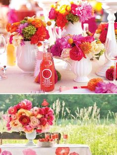 Bright & Colorful Summer Centerpieces