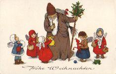 Frohe Weihnachten.  St. Nikolaus., artist unknown