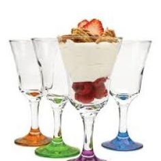 Take a look at this Circle Glass Colored Madeline Dessert Glass Set on zulily today! Glass Dessert Bowls, Dessert Glasses, Best Juicer Machine, Kitchen Words, Kitchen Stuff, Electric Ice Cream Maker, Kitchen Sale, Cute Desserts, Elegant Dining
