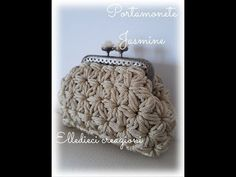 Tutorial:Portamonete Jasmine con clic clac su fondo ovale a punto gelsomino. - YouTube Crochet Handbags, Knitted Bags, Leather Bag, Coin Purse, Wallet, Knitting, Youtube, Crafts, Patterns