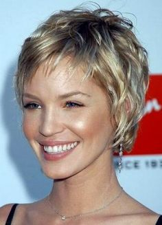 Image detail for -... Ashley Scott having a very cute and layered short hair cut now days