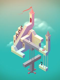 Be your own architect by playing Monument Valley, a stunning iOS game, available now.