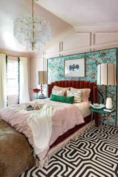 Jeweled Interiors spring 2019 One Room Challenge ORC big reveal Door Handle love the color setting plaster Darrow and ball and green Art Deco Bedroom, Room Ideas Bedroom, Home Bedroom, Bedroom Decor, Bed Room, Bedroom Designs, Bedroom Furniture, Small Room Bedroom, Bedroom Storage