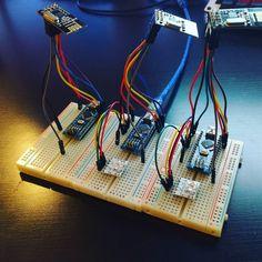 Arduinos and radios and i2c LEDs. #arduino #prototype #leds #nrf24l01…