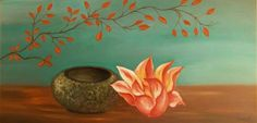 0,60 X 1,20cm oil painting (artwork Marietta Vasilaki)