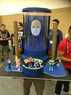 Zordon. Now this is one of the most brilliant cosplays I've seen. I never would've thought of this in a million years. Massive props to this guy!