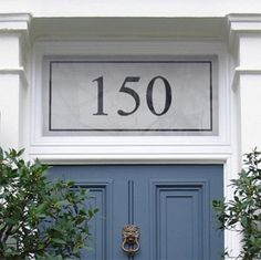 Window film, etched glass look, for house numbers on a glass front door. Purl Frost Window Film purlfrost.com