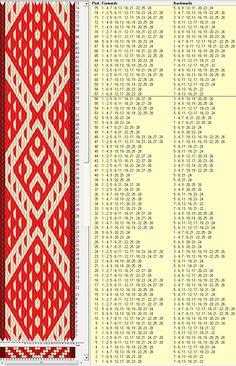 28 tarjetas, 3 colores, repite cada 56 movimientos // sed_491 diseñado en GTT༺❁
