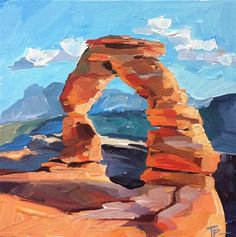 "Daily Paintworks - ""Arches National Park"" - Original Fine Art for Sale - © Teddi Parker"