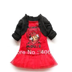 339c2eefb42d Free Shipping 2013 Summer 2 sets lot Kids Clothes Set Dress Skirt Shawl 2pcs  Minnie Mouse Girls Clothing Suit in stock