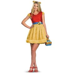 PartyBell.com - Sassy Winnie The Pooh Adult Costume ($39) ❤ liked on Polyvore featuring costumes, adult costume, sassy halloween costumes and adult halloween costumes