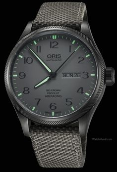 Oris - Air Racing Edition IV. In honour of the Oris Swiss Air Racing Team's Gold Race win at the 2013 National Championship Air Races in Reno.