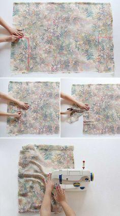 Kimono selber machen - Ärmel säumen