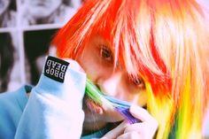 Rainbow hair and drop dead hoodie