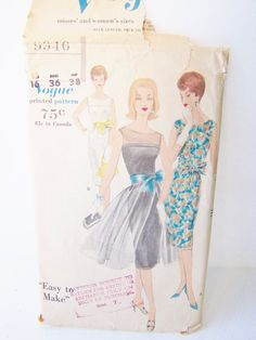 Vintage Vogue 9946 Sewing Pattern High Fashion by WitsEndDesign