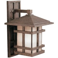 Kichler Lighting Kichler Outdoor Wall Light with Clear Glass in Aged Bronze Finish   9131AGZ   Destination Lighting