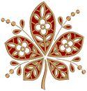 10559 Chestnut leaf cutwork lace embroidery