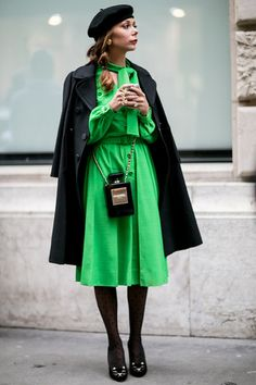 Chanel No.5 Bottle Bag at Paris Haute Couture Fashion Week Spring 2014 Street Style