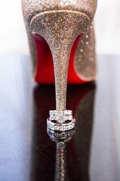#Louboutin #wedding shoes.