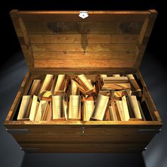 A large image showing a gold coin treasure chest. Have a little fun today with your gold and silver coin collection by storing them in a neat coin treasure chest. Gold Money, My Money, How To Make Money, Cash Money, Pirate Treasure, Treasure Chest, Treasure Hunting, Gold Futures, Visualisation