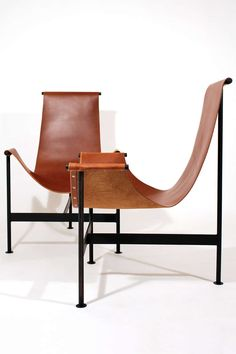 T chair by William Katavolos, Ross Littell & Douglas Kelley for Laverne International. leather+steel