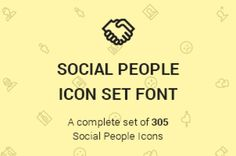 A custom @font-face icon font with scalable vector icons. This is the social people series of The Icons Set with different...