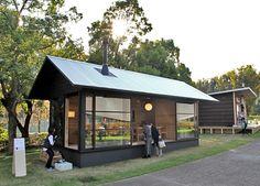 naoto fukasawa embodies his idea of peacefulness in a timber retreat muji hut / The Green Life Japanese Architecture, Architecture Design, Muji Hut, Wooden Hut, Naoto Fukasawa, Tokyo Design, Barn Renovation, Patio Gazebo, Backyard Furniture