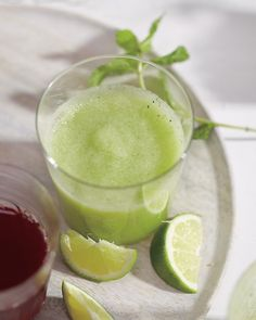 MELON, MINT AND CUCUMBER SMOOTHIE    Ingredients        2 cups chopped honeydew      1 cup chopped English cucumber      12 fresh mint leaves      2-4 tablespoons fresh lime juice, to taste      1 teaspoon honey    Directions        Puree ingredients in a blender until smooth.