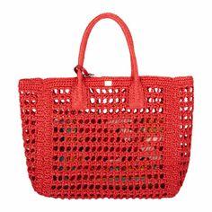 Designer Clothes, Shoes & Bags for Women Knit Basket, Tote Bags Handmade, Crochet Coat, Sack Bag, Macrame Bag, Kids Bags, Knitted Bags, Bag Making, Straw Bag