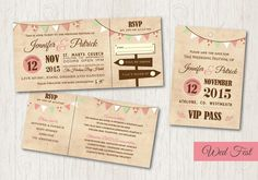 Festival Inspired Save the Date