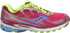 Saucony ProGrid Ride 5 - Vizipro Pink/Blue/Yellow - Free Shipping & Return Shipping - Shoebuy.com