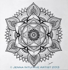 Jenna | Intuitive Artist - AMAZING detailed work... So inspired by her art, im starting to make my own mandalas :)